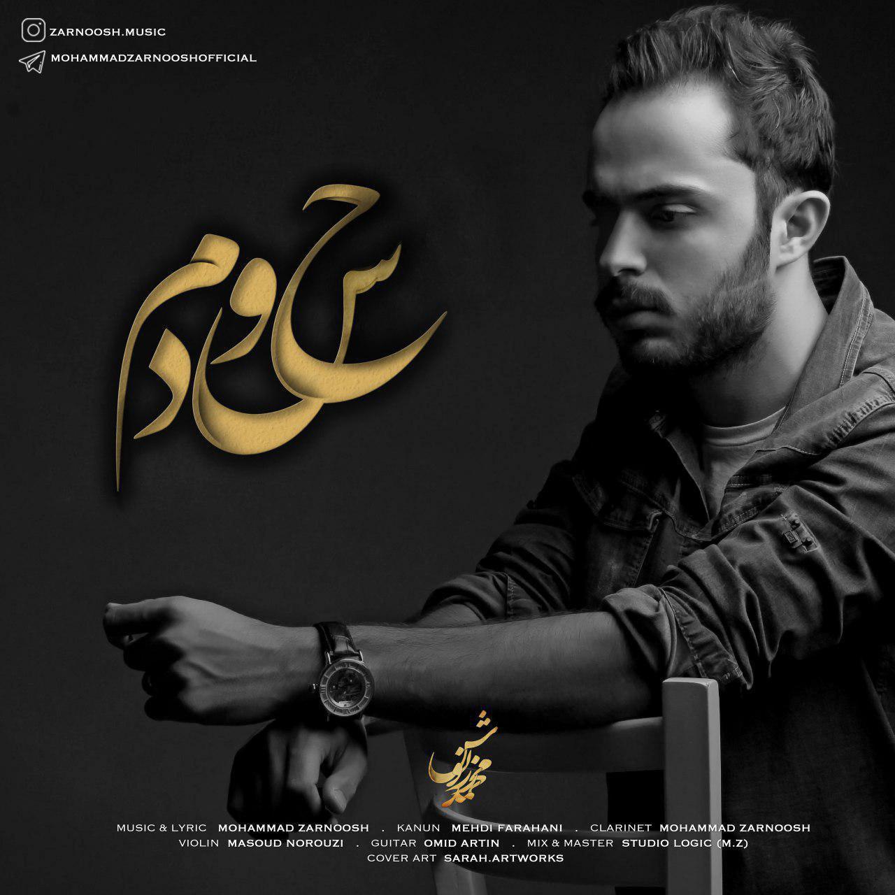 دانلود آهنگ جدید محمد زرنوش به نام حسودم